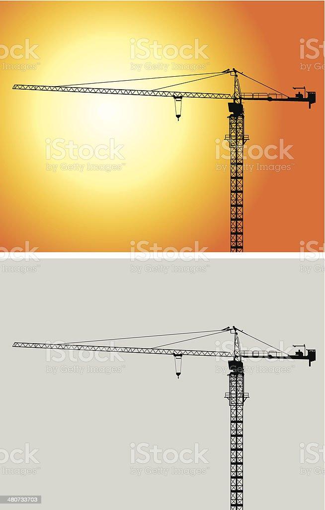 Tower crane royalty-free stock vector art