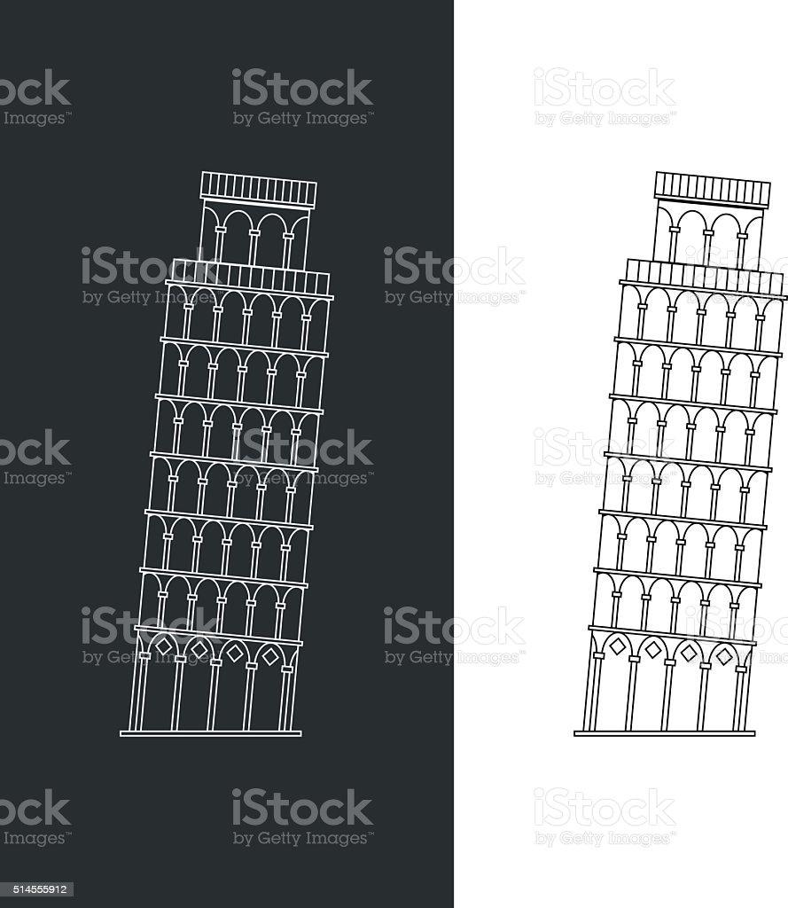 Tower Pisa vector art illustration
