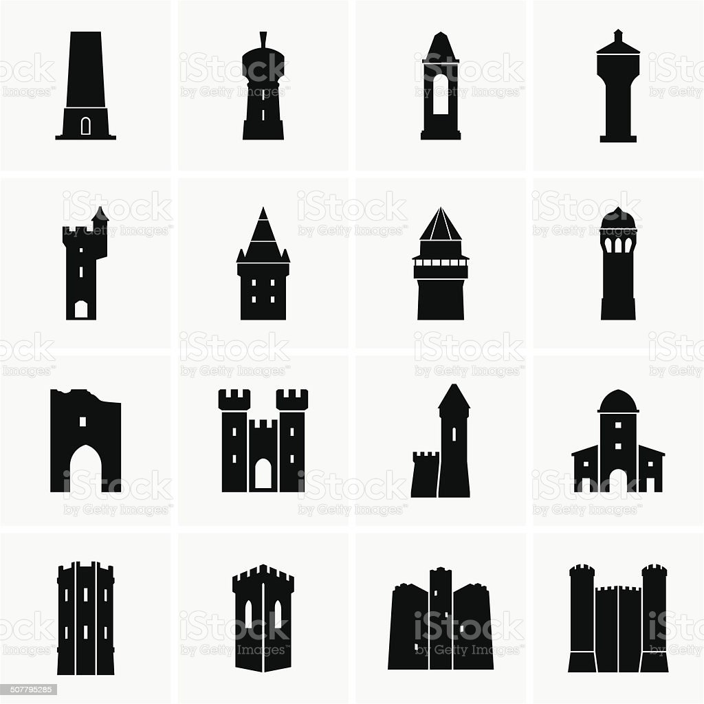 Tower vector art illustration