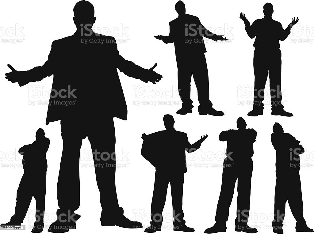 Towering Business Attitude Series royalty-free stock vector art