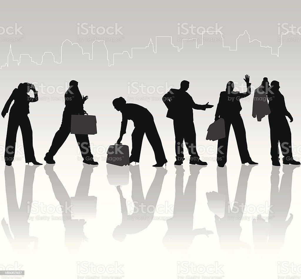 Towering Business People Shadow Series royalty-free stock vector art
