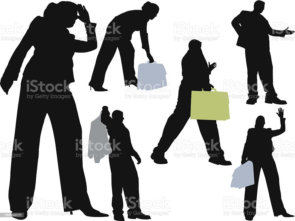 Towering Business People royalty-free stock vector art