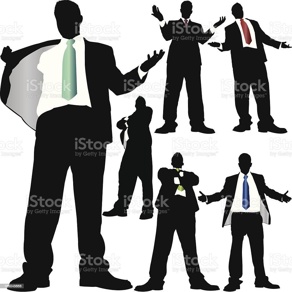 Towering Businessman Attitude Series royalty-free stock vector art