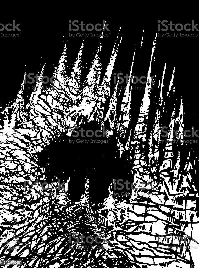 Towering Rock Formations. vector art illustration