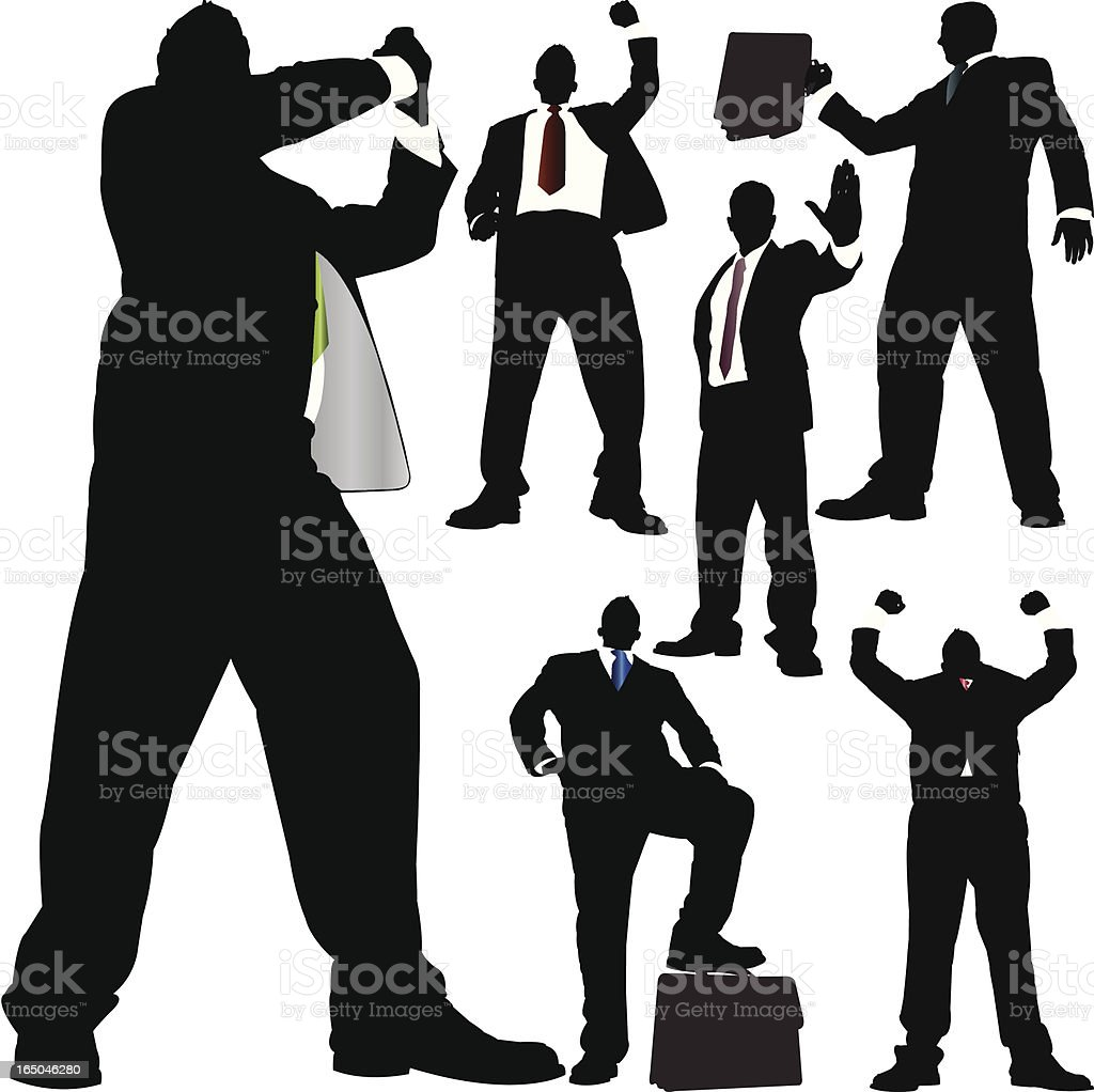 Towering Victorious Business Series royalty-free stock vector art