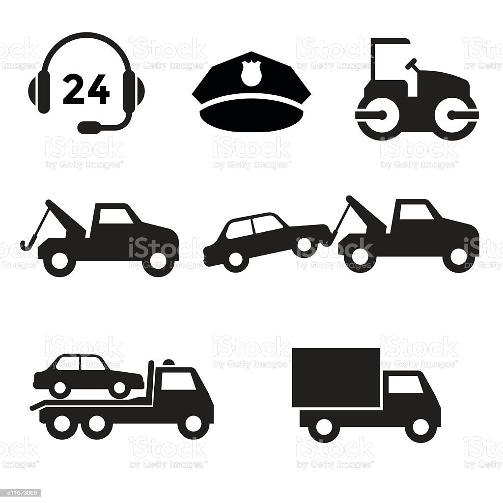 Towing Icon vector art illustration