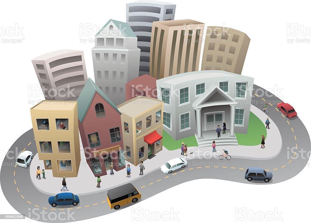 Town Block royalty-free stock vector art