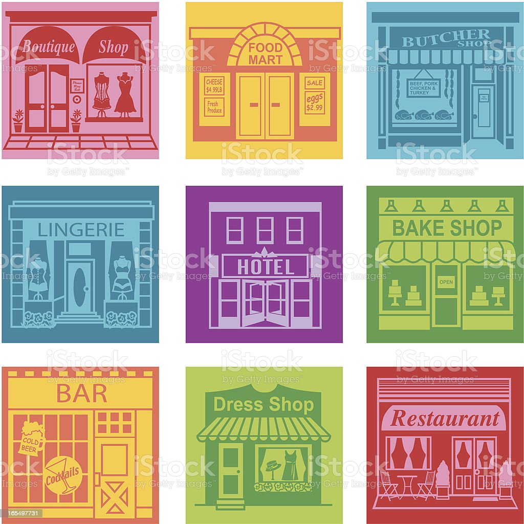town royalty-free stock vector art