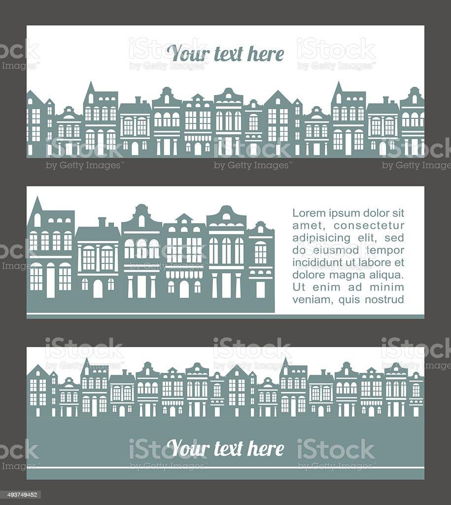 town vector art illustration