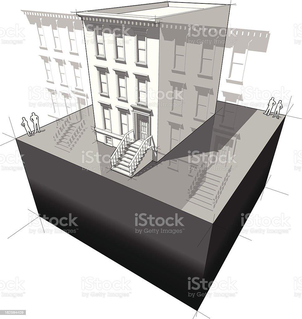townhouse diagram royalty-free stock vector art