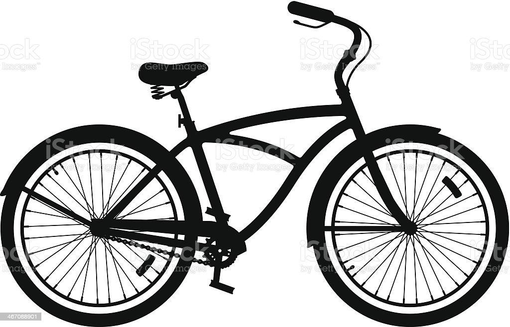 Townie Bike vector art illustration