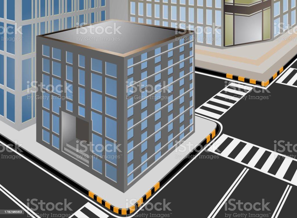 Townscape vector cartoon royalty-free stock vector art