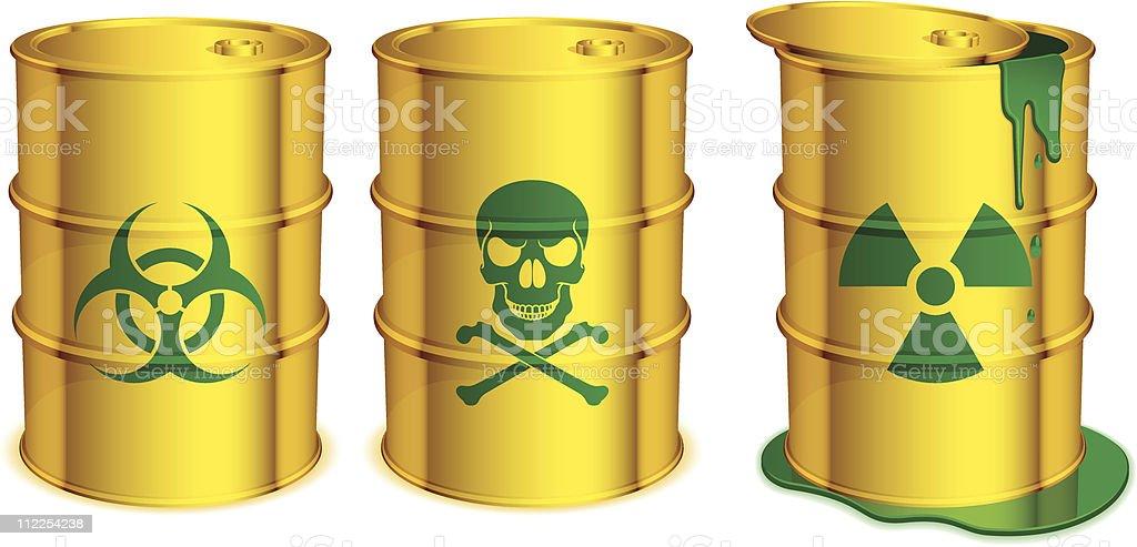 Toxic barrels. royalty-free stock vector art