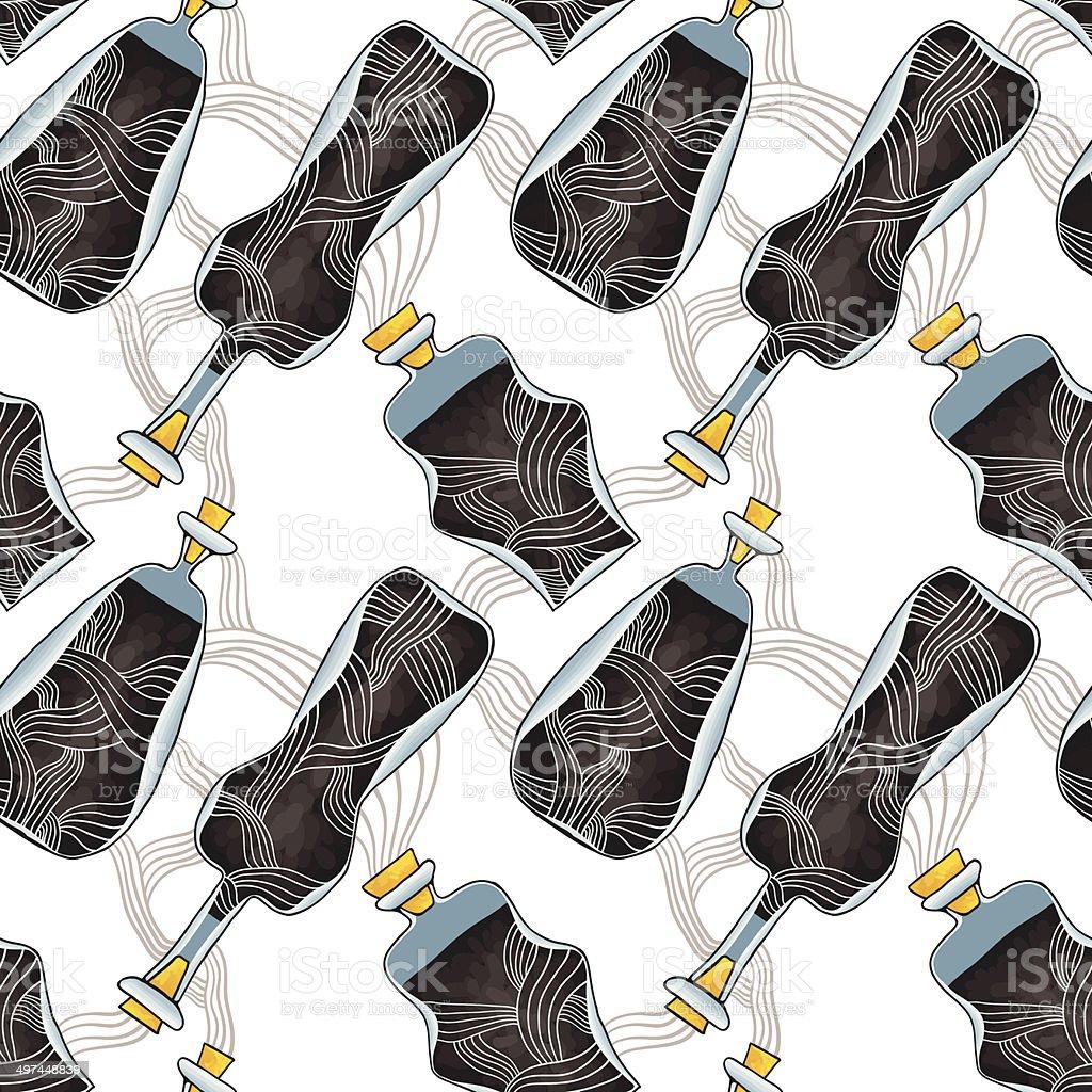 Toxic bottles royalty-free stock vector art