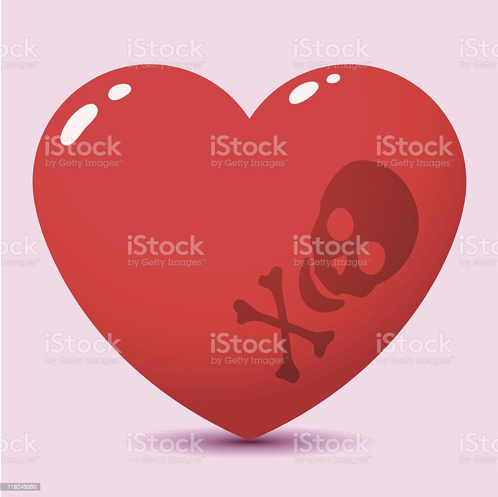 Toxic red heart royalty-free stock vector art