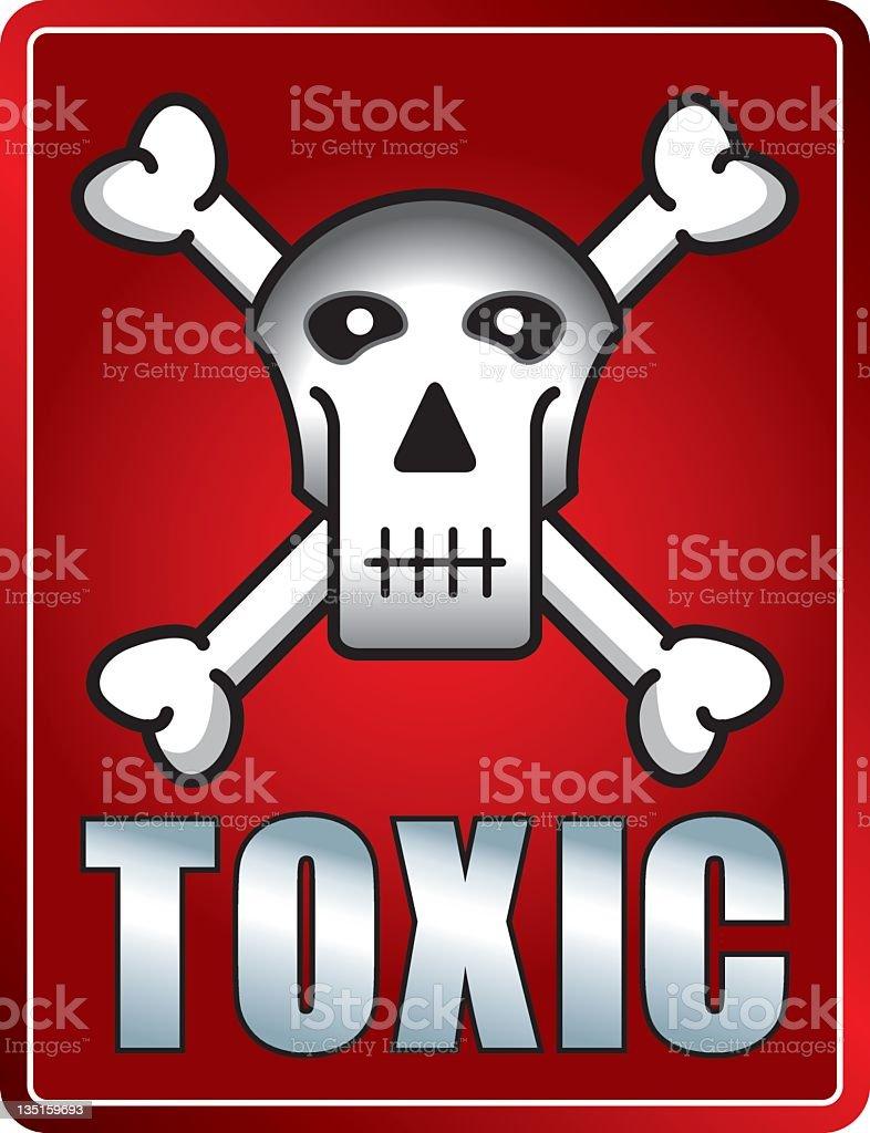 Toxic Skull Sign royalty-free stock vector art