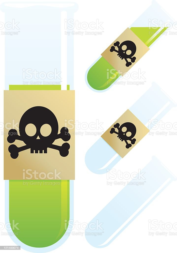Toxic Test Tube royalty-free stock vector art