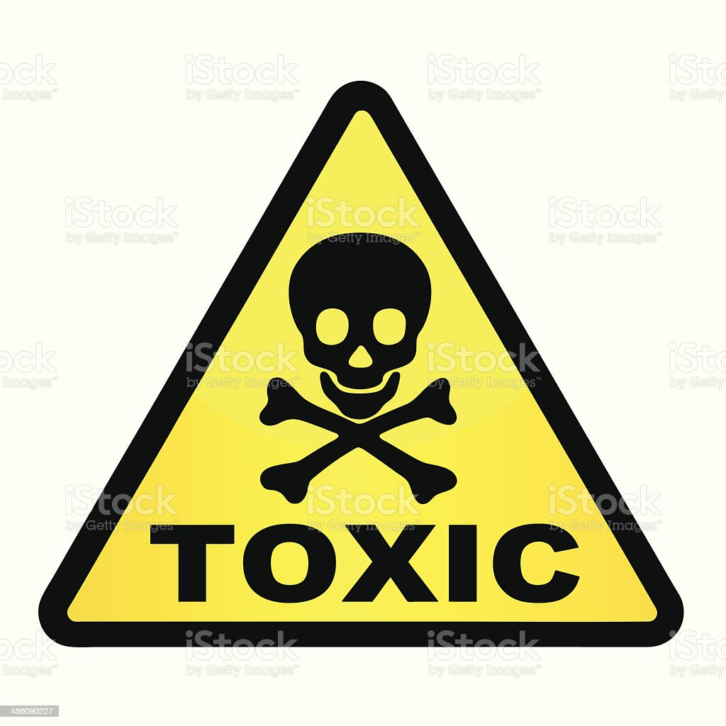 Toxic. vector art illustration