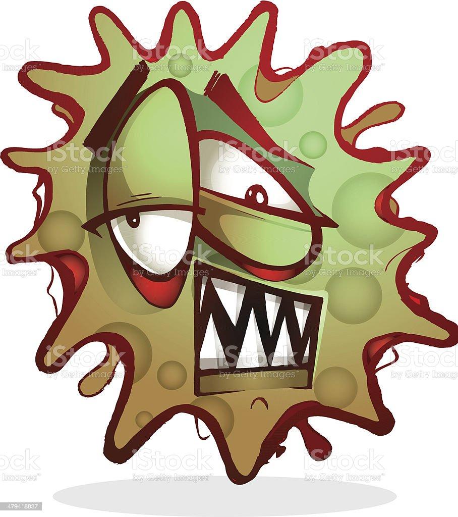 Toxic virus character vector art illustration