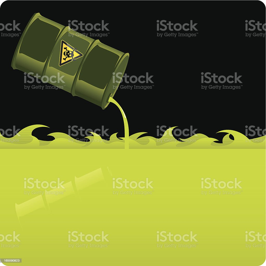 Toxic Waste spill royalty-free stock vector art