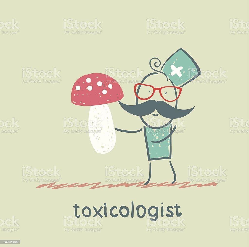 Toxicologist keeps fungus royalty-free stock vector art