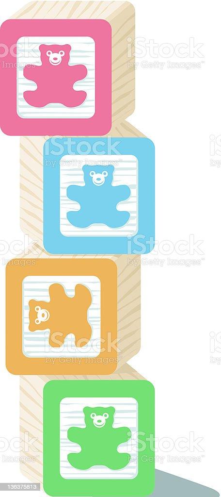 Toy Blocks royalty-free stock vector art