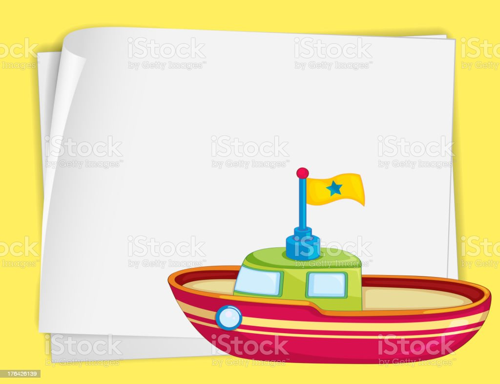Toy boat royalty-free stock vector art