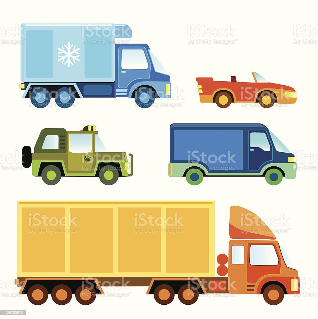 Toy car collection royalty-free stock vector art