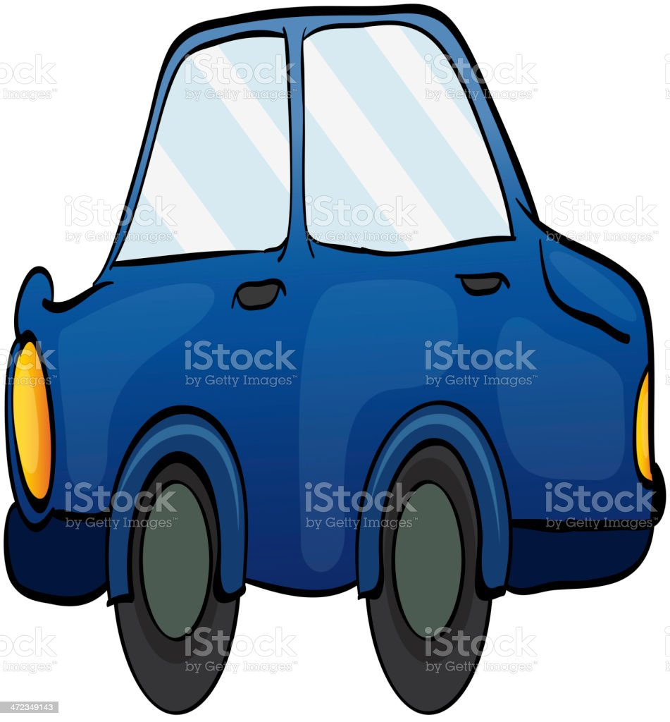 Toy car on white royalty-free stock vector art