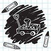 toy cart doodle
