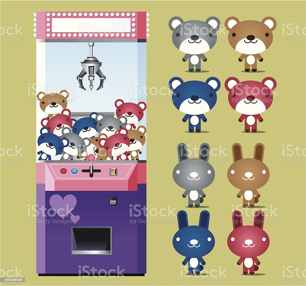 Toy Claw Machine vector art illustration