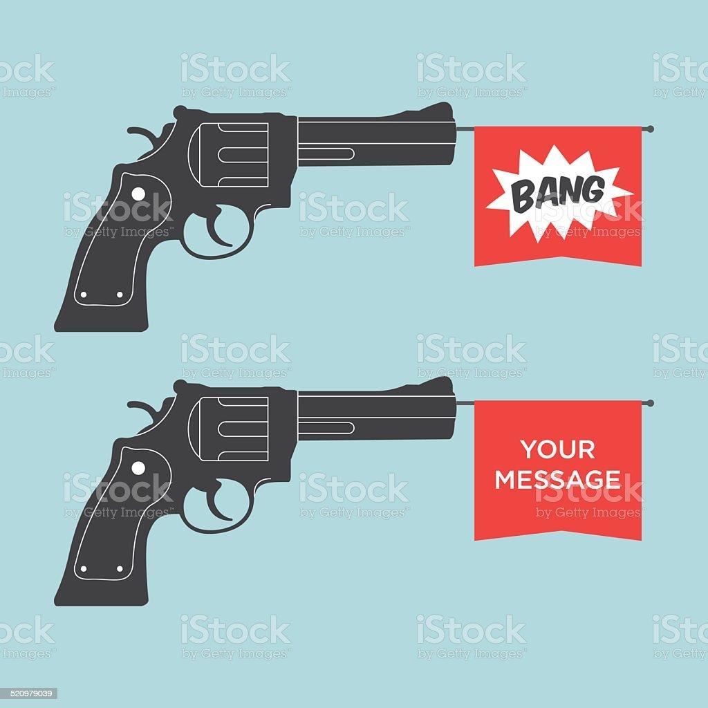 toy gun illustration vector vector art illustration
