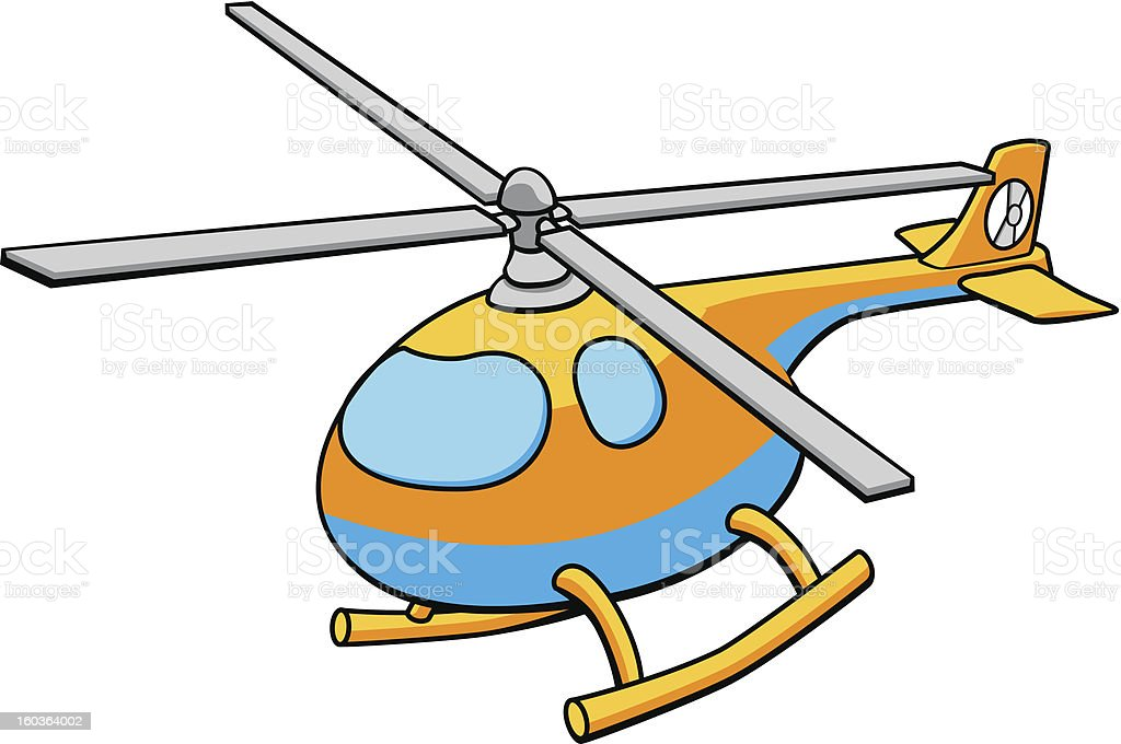 Toy Helicopter Illustration royalty-free stock vector art