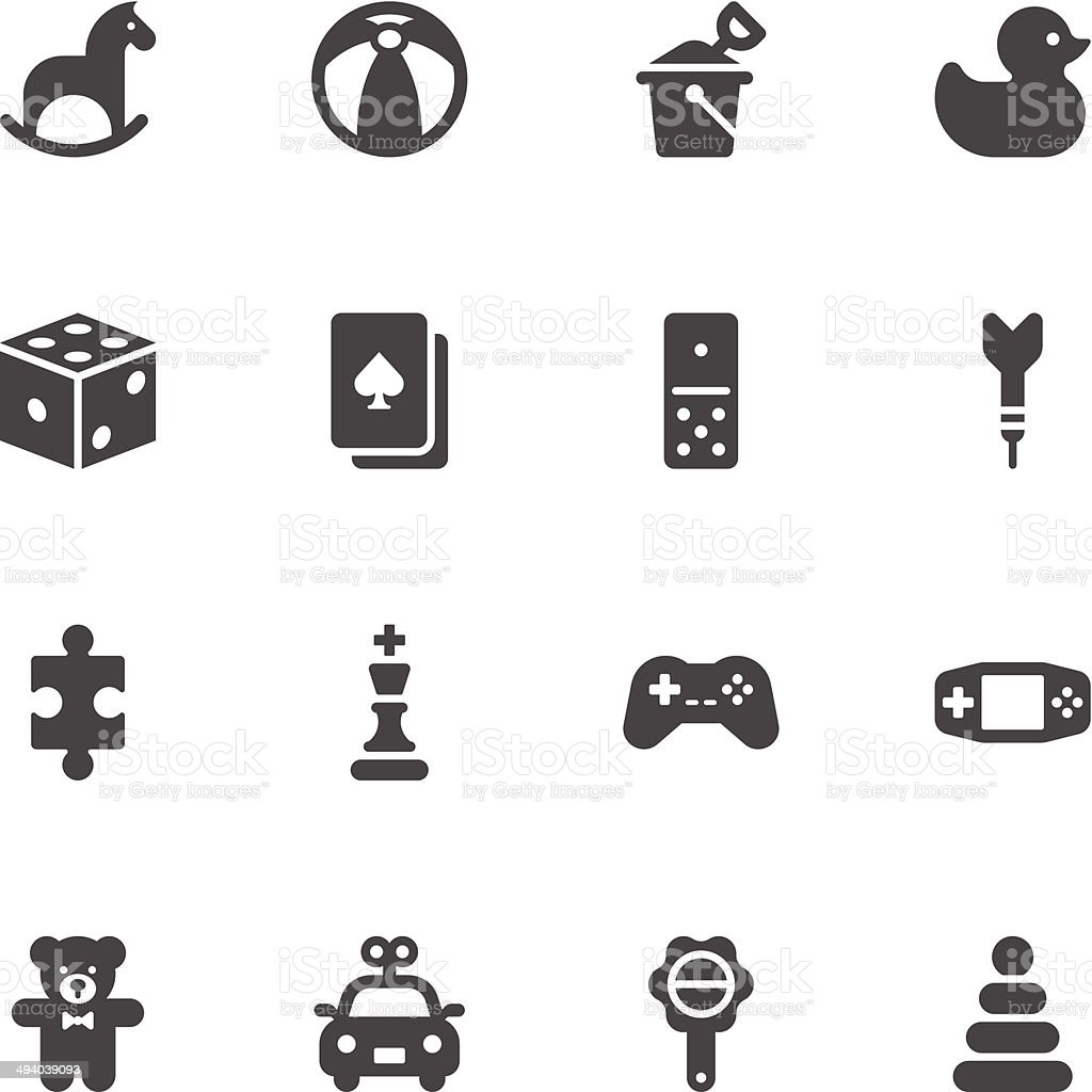 Toy icons vector art illustration