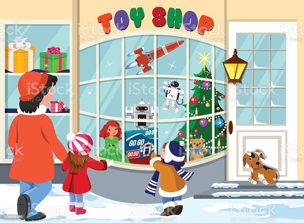 Toy Shop vector art illustration