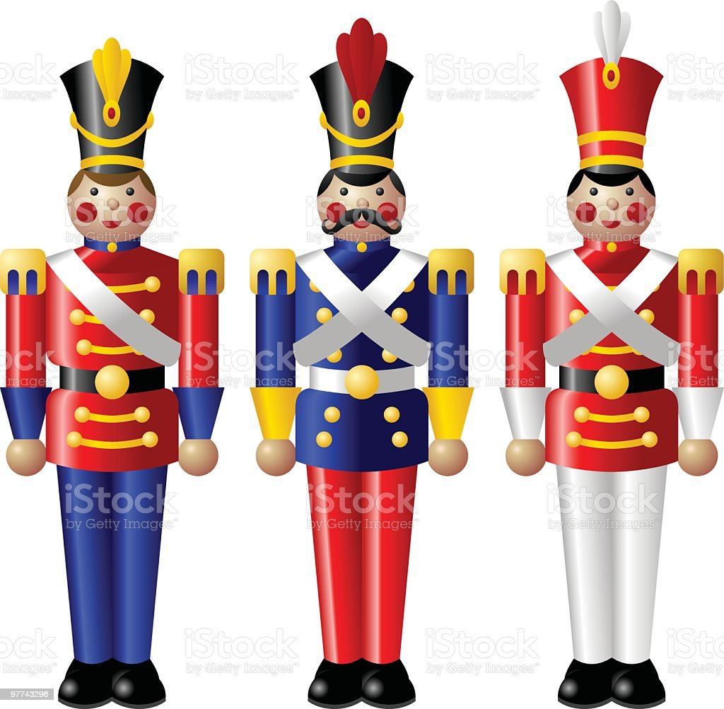 Toy Soldiers royalty-free stock vector art