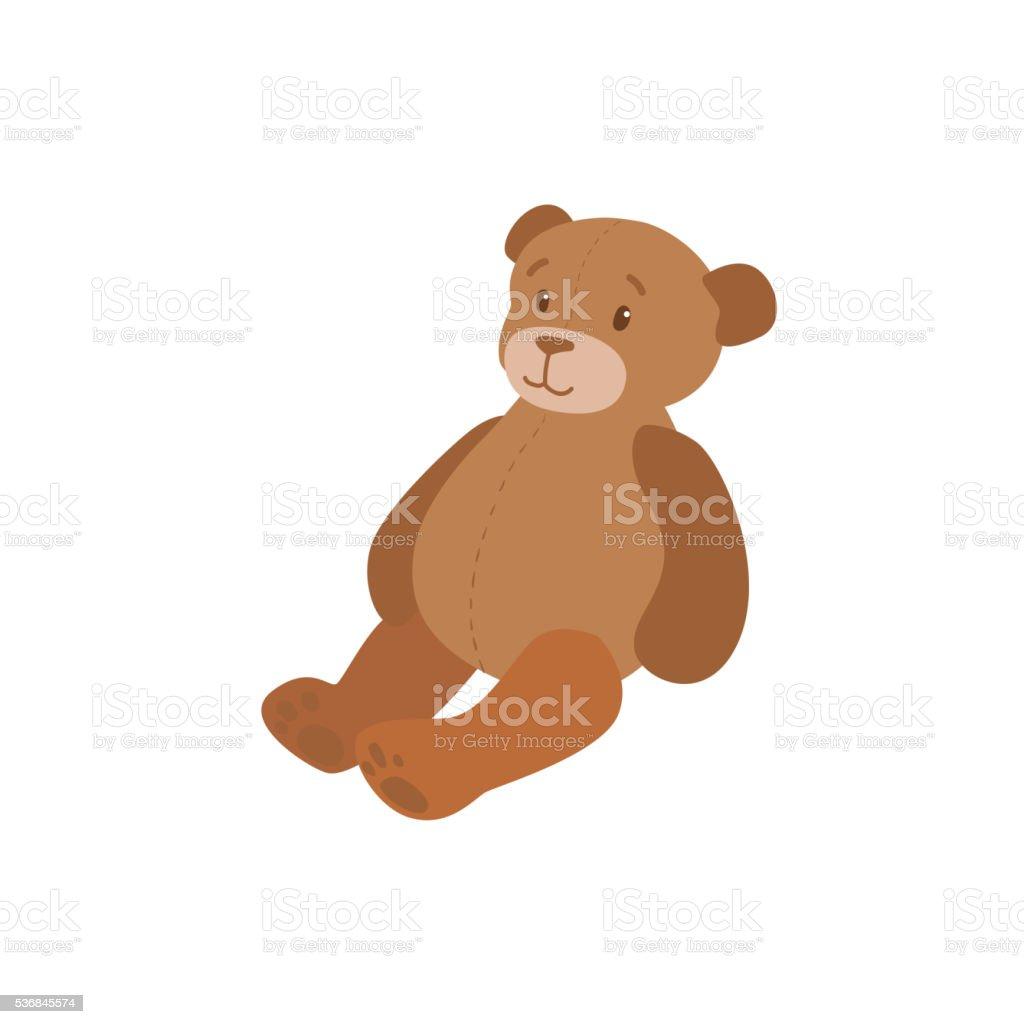 Toy Teddy Bear vector art illustration