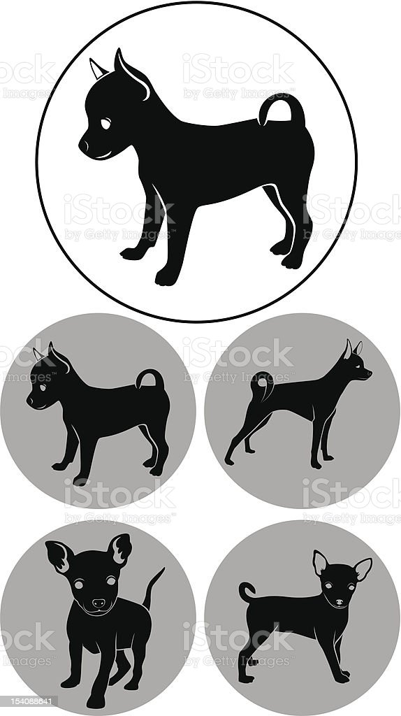 Toy Terrier royalty-free stock vector art