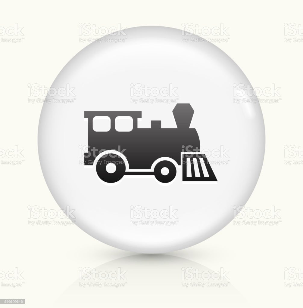Toy Train icon on white round vector button vector art illustration