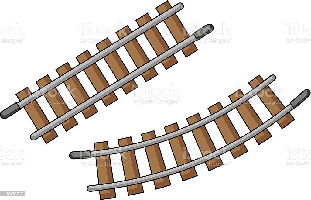 Toy Train Tracks : Toy train track stock vector art istock