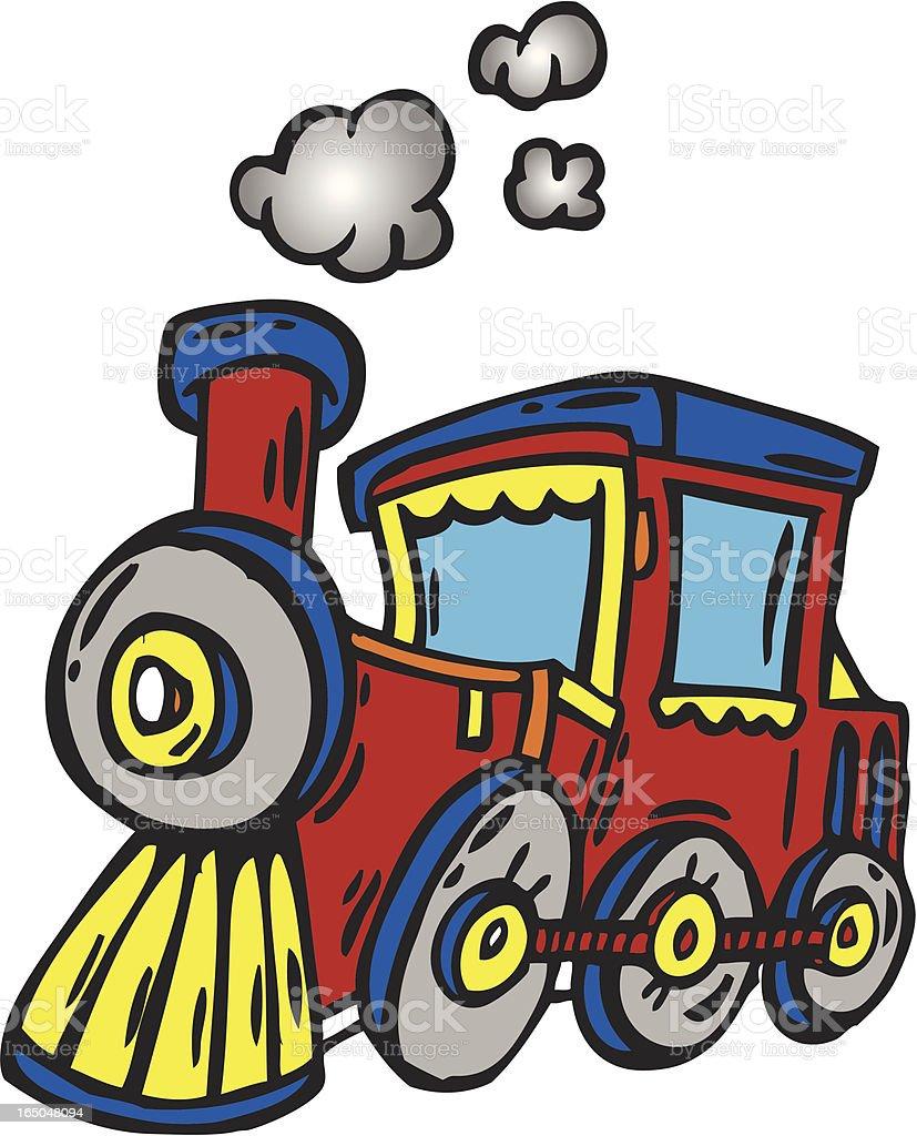 Toy Train royalty-free stock vector art