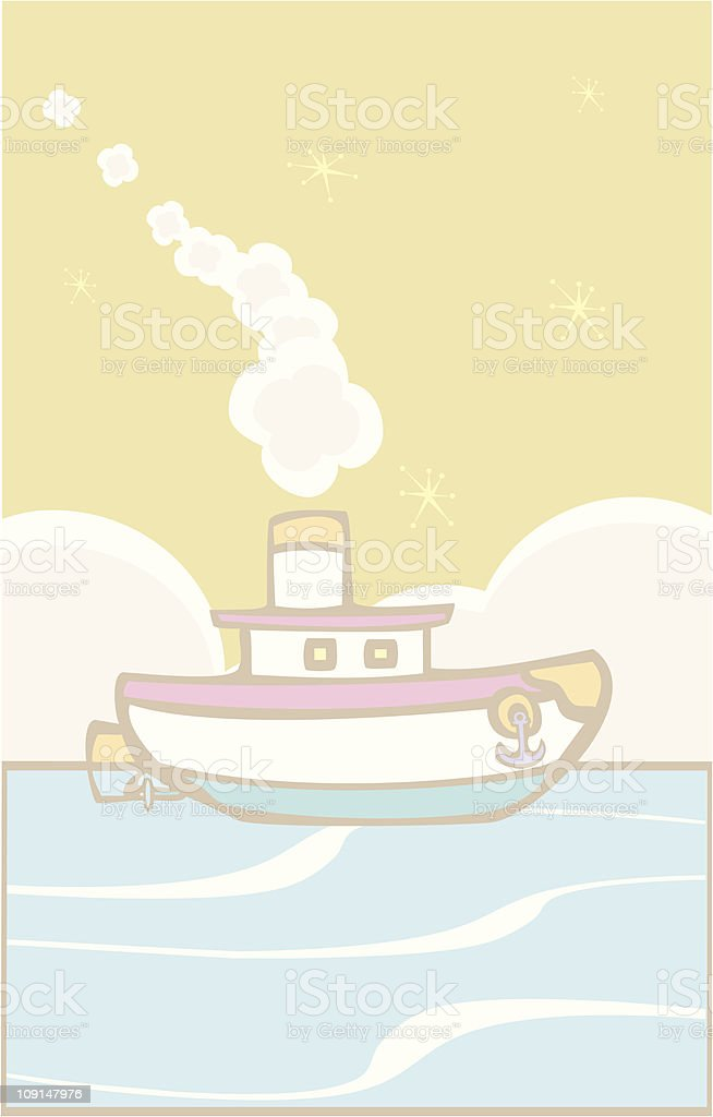 Toy Tugboat royalty-free stock vector art