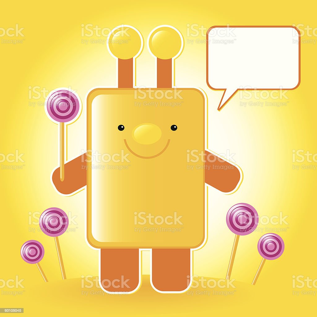 toy with candy royalty-free stock vector art
