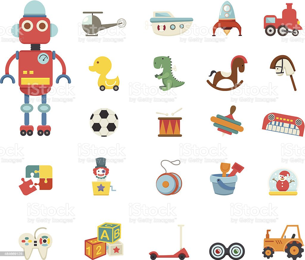 Toys icon vector art illustration