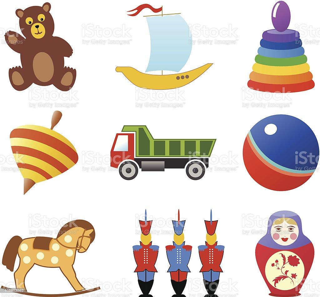 Icônes de jouets stock vecteur libres de droits libre de droits