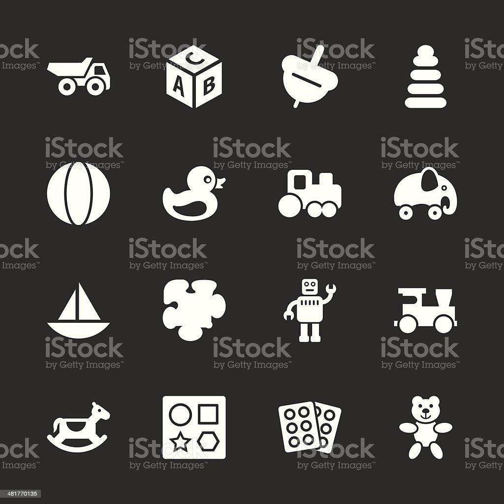 Toys Icons - White Series | EPS10 royalty-free stock vector art