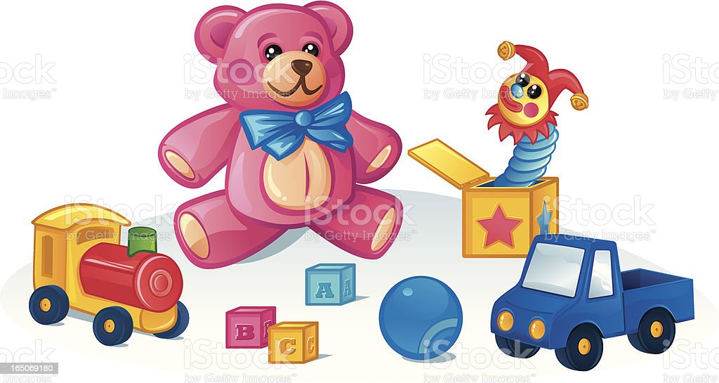 Toys royalty-free stock vector art