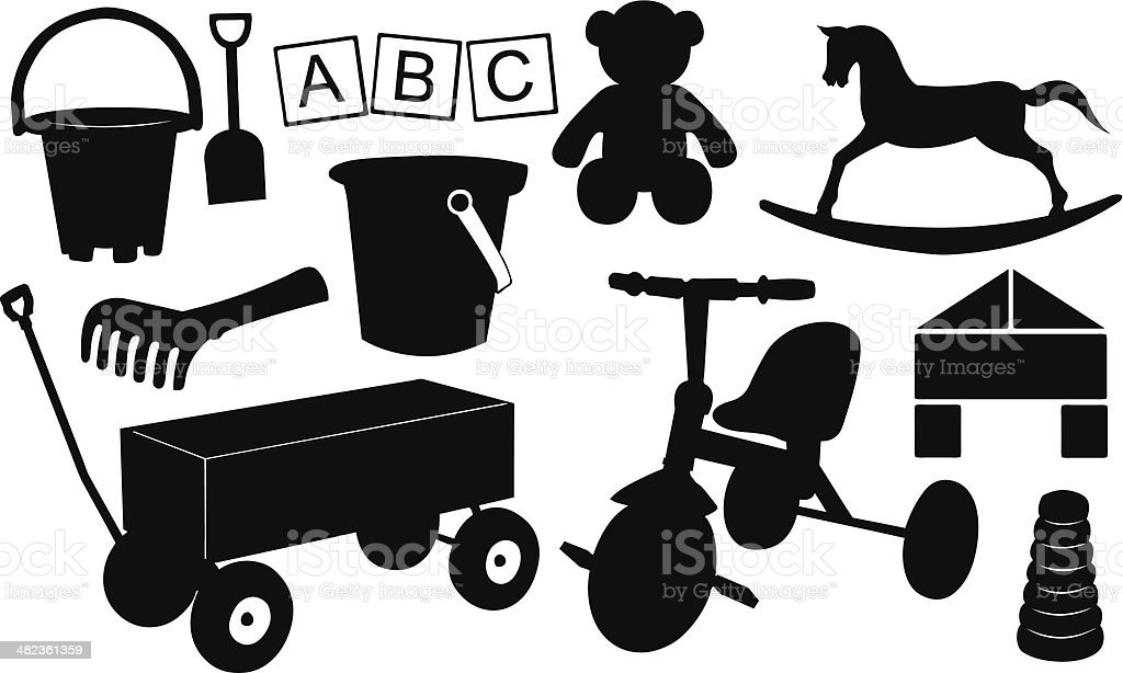 toys vector art illustration