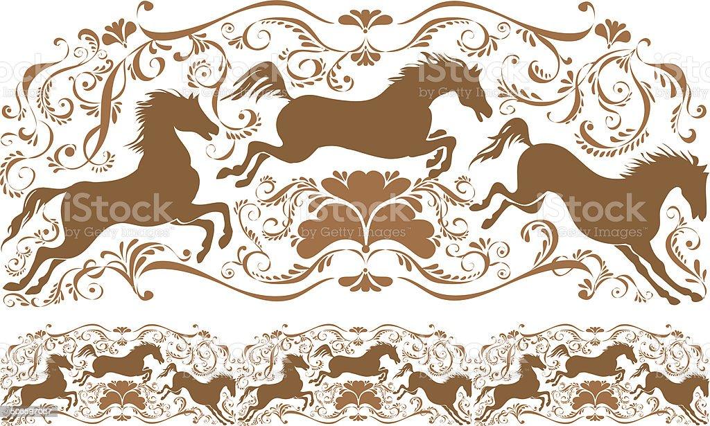 tracery vector art illustration