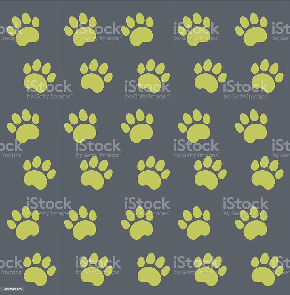 Traces of Cat Textile Pattern royalty-free stock vector art
